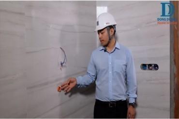 Kiểm tra thiết bị âm tường sau khi ốp lát